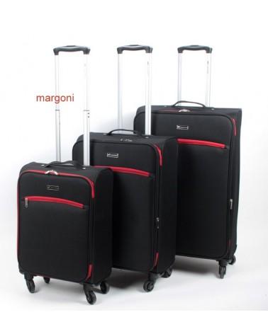 Duża walizka sumatra ELEGANCE 28 6121 CZARNO-CZERWONA