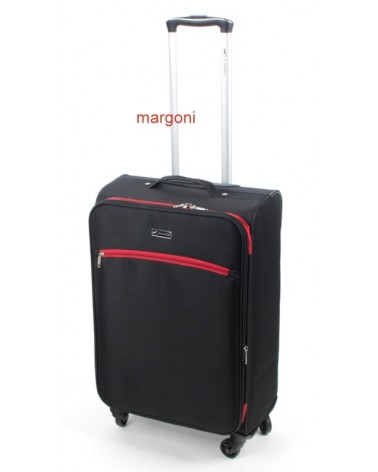 ŚREDNIA walizka sumatra elegance 24 6121 czarno-czerwona