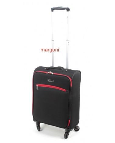 MAŁA walizka sumatra elegance 20 6121 czarno-czerwona