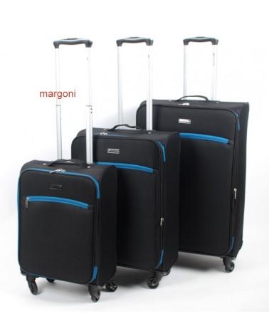 Duża walizka sumatra elegance 28 6121 czarno-niebieska