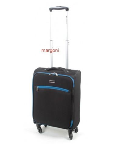 Mała walizka sumatra elegance 20 6121 czarno-niebieska