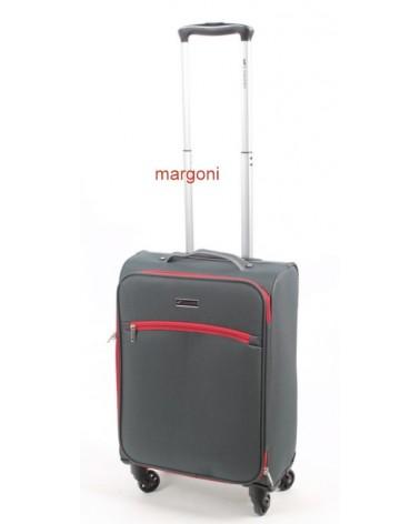 Mała walizka sumatra elegance 20 6121 szaro-czerwona