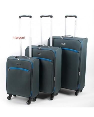 Duża walizka sumatra elegance 28 6121 szaro-niebieska