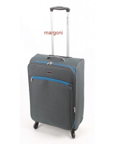 średnia walizka sumatra elegance 24 6121 szaro-niebieska