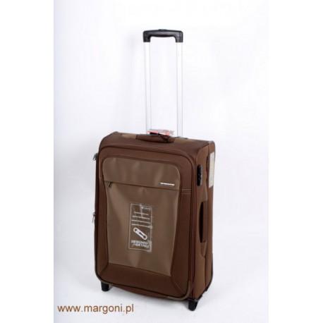 98f8ae1fe6570 średnia walizka carlton omega brązowa - Walizki miękkie - 2 koła ...