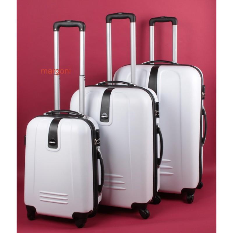 60da9936fb2fc Duża walizka sumatra 28 s-10 biała - Walizki twarde - 4 koła ...