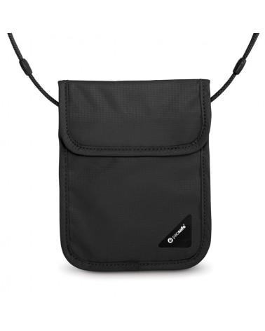 Pacsafe Coversafe X75 dyskretny, antykradzieżowy portfel - czarny