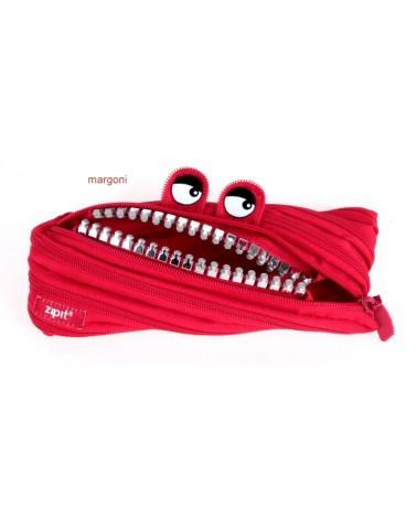 Piórnik monster suwakowy paszczak 97698 czerwony