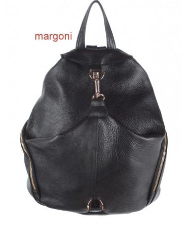 Plecak damski skórzany margoni 510 czarny
