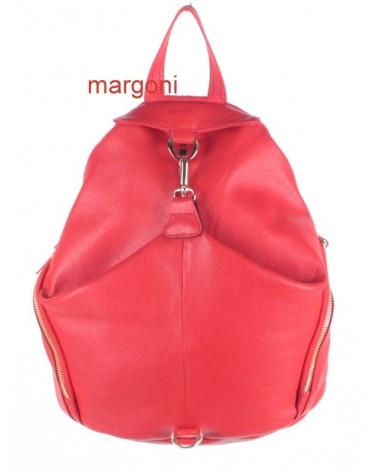 Plecak damski skórzany margoni 510 czerwony