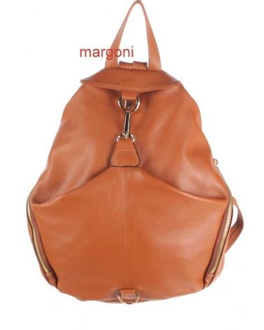 Plecak damski skórzany margoni 510 brązowy