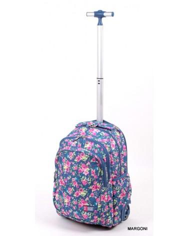 Plecak szkolny na kołach st-reet tb-01 Flowers Two