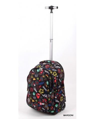 Plecak szkolny na kołach st-reet tb-01 Badges