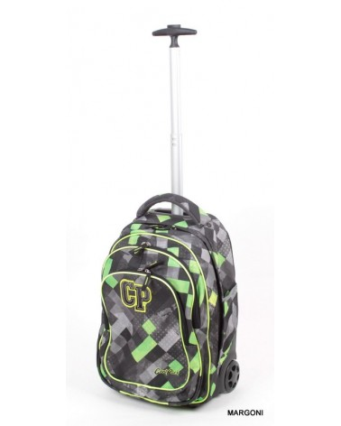Plecak szkolny na kołach cool pack Target 34 szaro-zielony + Gratis