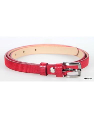 Pasek damski pas-max 1,5 cm czerwony