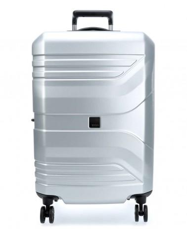 Duża walizka prior 28 spinner silver