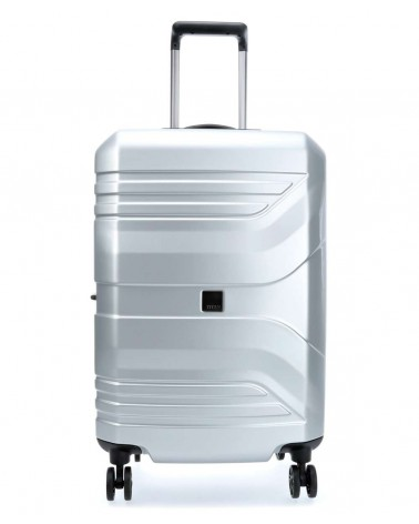 średnia walizka prior 24 spinner silver