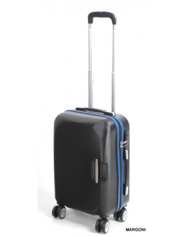 Mała walizka sumatra 20 alaska czarno-niebieska