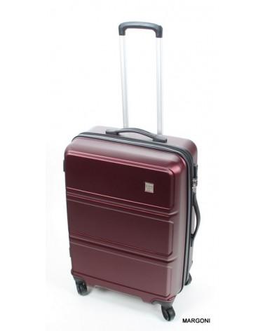 średnia walizka marco viaggiatore 24 mv007 bordowa