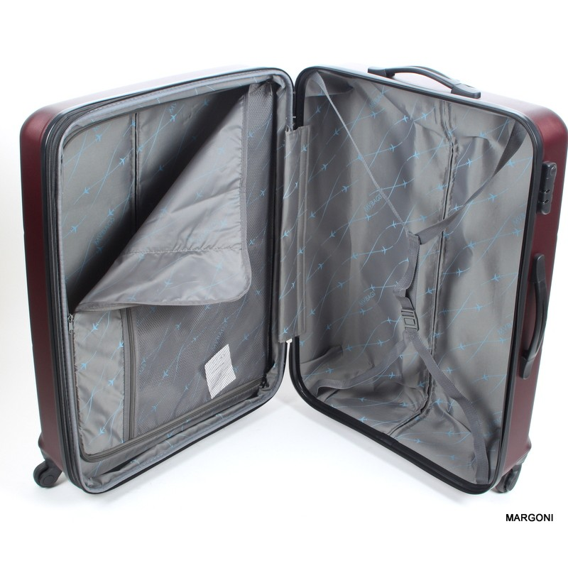 a340924b12b37 średnia walizka marco viaggiatore 24 mv007 bordowa - Bagaż - Margoni