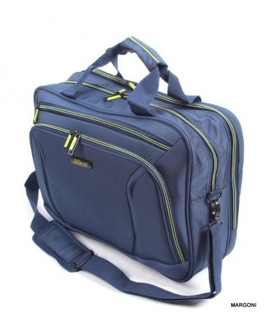 Torba podróżna viaggiatore 18 mv102 niebiesko-zielona