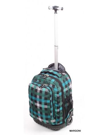 Plecak szkolny na kołach derform PLM 19KB26 zielony