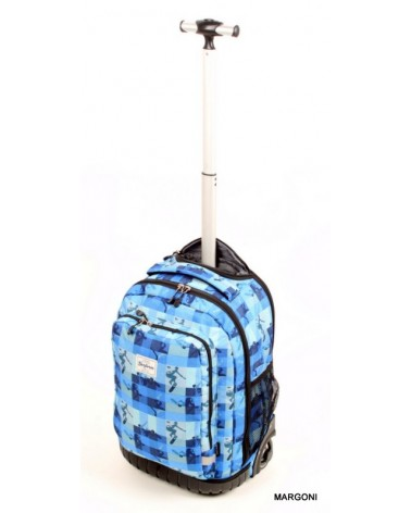 Plecak szkolny na kołach derform plm 19kb37 niebieski