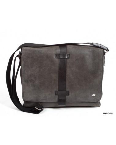 Skórzana torba na ramię JAZZY RISK up 141 czarny
