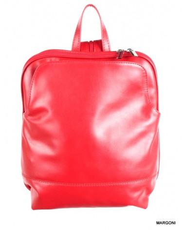 Plecak skórzany damski margoni 515m czerwony