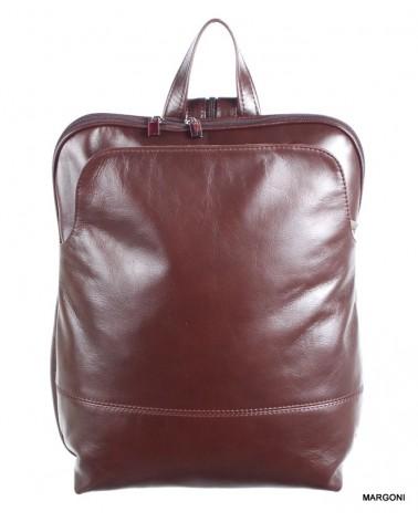 Plecak skórzany damski margoni 515d brązowy