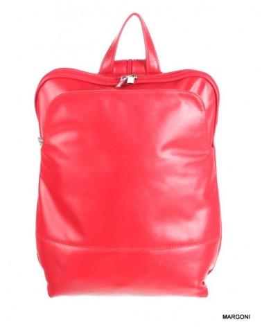 Plecak skórzany damski margoni 515d czerwony