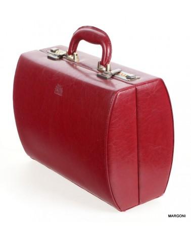 Kufer damski skórzany Perfekt jk-1 czerwony