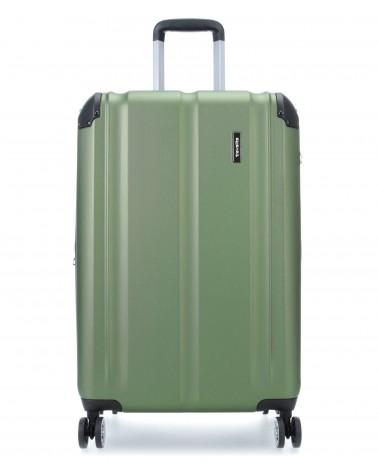 średnia walizka travelite city 73048-20 zielony