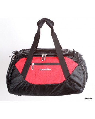 Torba sportowa travelite Kick-Off S 6813 czarny-czerwony