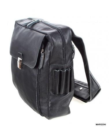 Plecak skórzany VERSO 3007-7546AU czarny