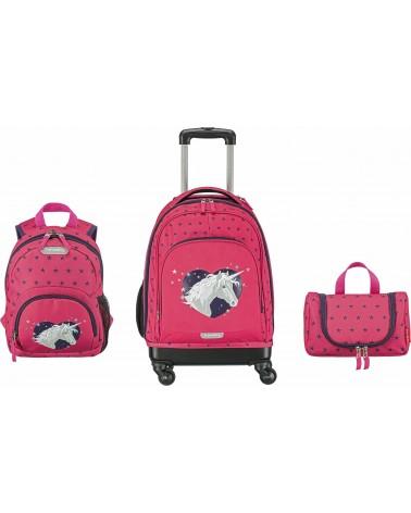 Dziecięcy zestaw bagażowy Travelite Mini Trip Jednorożec