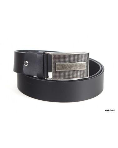 Pasek skórzany Pasal 022 czarny