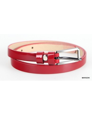 Pasek skórzany pas-max 047 czerwony