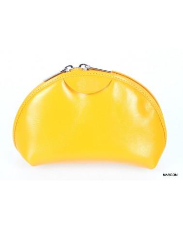 Kosmetyczka skórzana saccus ko-98 żółty