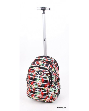 Plecak szkolny na kołach st-reet tb-01 TropicalStipes + gratis