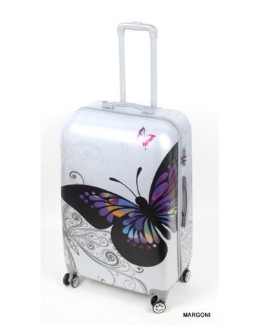Duża walizka gravitt 28 046 motyle