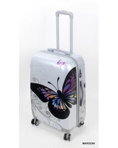 Średnia walizka Bagia 24 046 motyl