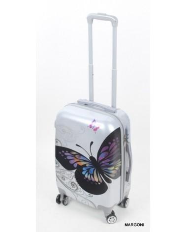 Mała walizka gravitt 20 046 motyl
