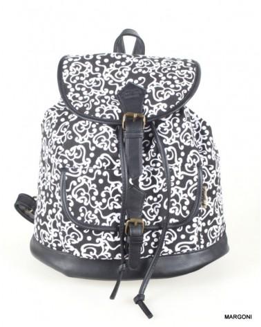 Plecak damski miejski CoolPack 72342 czarny biały