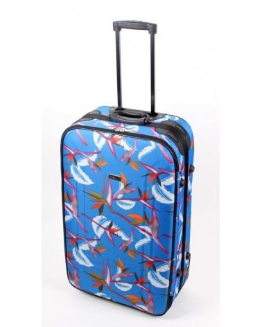 Duża walizka Travel Land 28 niebieski
