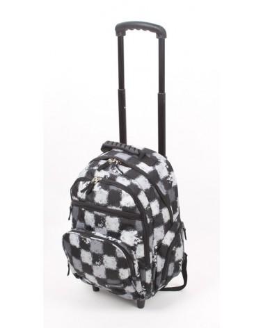 Plecak szkolny na kołach Snowball f13242 kratka