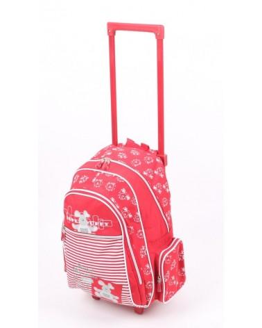 Plecak szkolny na kołach MADISSON t53017 CZERWONY