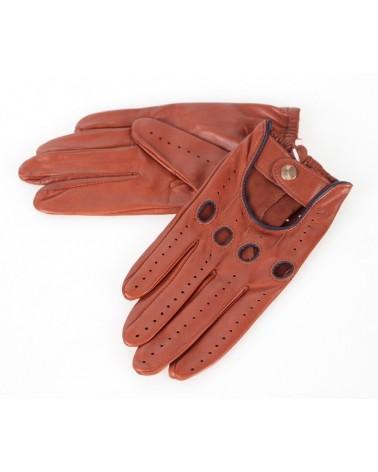 Rękawiczki skórzane insignium ir523klt brąz