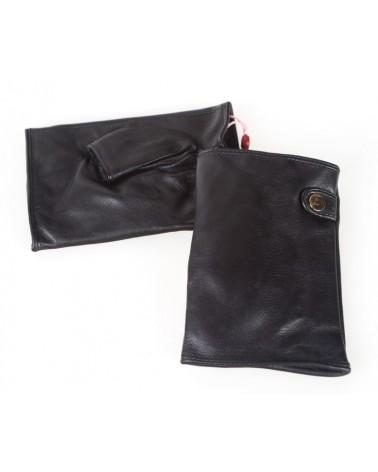 Rękawiczki damskie skórzane insignium ir546kc czarnym