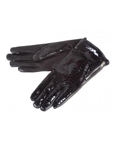 Rękawiczki damskie skórzane insignium ir529kc czarny